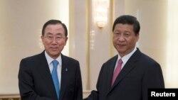 联合国秘书长潘基文会晤中国国家主席习近平