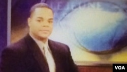 FILE - On-air photo of former news station employee Vester Flanagan, suspected of shooting his co-workers Alison Parker and Adam Ward while live-tweeting the experience and recording it, in Roanoke, Virginia.