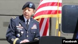 Tân thiếu tướng LapThe Flora phát biểu tại lễ thăng quân hàm thiếu tướng hôm 02/05/2020. Photo US Army Africa.