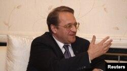 Wamenlu Rusia Mikhail Bogdanov (Foto: dok). Kemenlu mengeluarkan pernyataan yang menyatakan bantahan atas pernyataan Wamenlu Bogdanov terkait Presiden Suriah Bashar al-Assad, Jum'at (14/12).