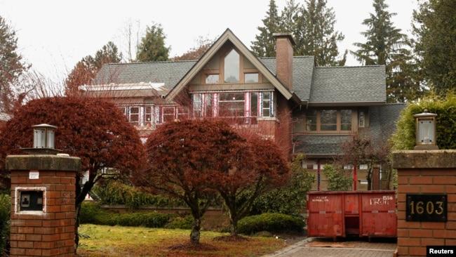 路透社圖片顯示華為CFO孟晚舟家族在溫哥華市擁有的另一座豪宅