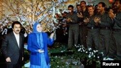مریم و مسعود رجوی در سال ۱۹۹۷ در عراق