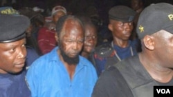 Ne Mwanda Nsemi, leader de Bundu dia Kongo, ntango akangamaki, Kinshasa, le 4 mars 2017