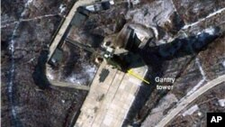 지난 4일 촬영한 북한 동창리 미사일 발사대 모습. '38노스' '노스코리아테크' 제공.