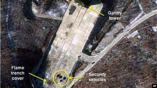 Trạm phóng vệ tinh của Bắc Triều Tiên ở Tongchang-ri. Ảnh của công ty vệ tinh thương mại GeoEye