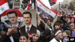 反對總統阿薩德的抗議活動。