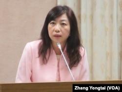 台湾疾病管制署主任秘书陈颖慧 (美国之音张永泰拍摄)
