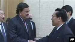 Από την επίσκεψη Ρίτσαρντσον στη Βόρεια Κορέα