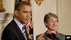 Барак Обама и Салли Джуэлл