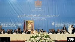12일 모로코에서 선언문 초안을 발표한 '시리아의 친구들' 회담.