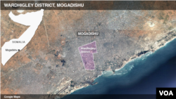 Wardhigley district, Mogadishu