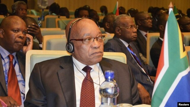 South Africa's President Jacob Zuma attends the leaders meeting at the African Union (AU) in Ethiopia's capital Addis Ababa, July 14, 2012.