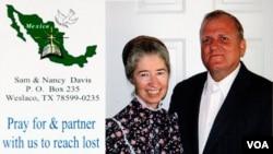 Sam y Nancy Davis, una pareja de misioneros radicada en México, conducían por una carretera a unos 96 kilómetros al sur de la frontera cuando fueron atacados.
