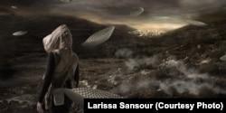 Uçan porselen, Larissa Sansour