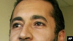 卡扎菲的兒子薩阿迪(資料圖片)