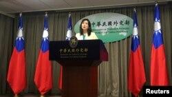 台灣外交部發言人歐江安。(資料圖片)