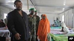 Le candidat à la présidentielle Jean Ping, en Somalie, le 20 août 2011.