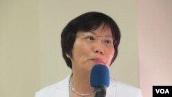 台湾执政党民进党立委刘世芳(美国之音张永泰拍摄)