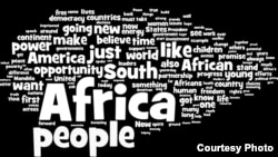 The most frequently used words and phrases in President Obama's speech in Cape Town on June 30, 2013. Courtesy of wordle.net