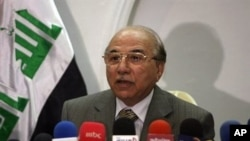 Iraqi supreme court chief Midhat Mahmoud in Baghdad (File Photo - 01 Jun 2010)
