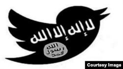Gabungan logo Twitter dan Negara Islam (ISIS).