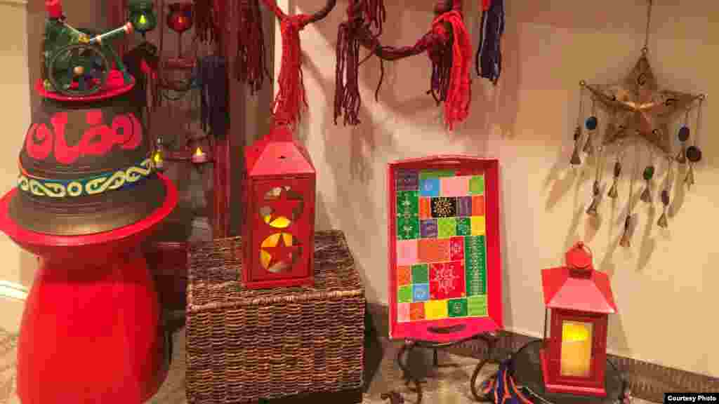 Red, yellow and green are common colors for Ramadan decorations in Inas El Ayouby's home (I. El Ayouby)