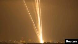 Rocket được bắn đi từ phía bắc Dải Gaza.