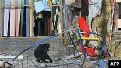 На месте одного из взрывов в Макеевке