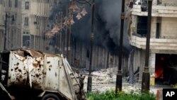 Zgrade u sirijskom gradu Alepu razorene u borbama između sirijskih snaga i pobunjenika