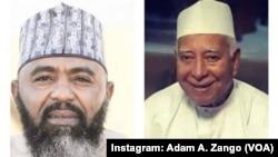 Ibrahim Maishunku, (hagu) Da Mahaifinsa, (Dama) - Hoto: Instagram Adam A. Zango