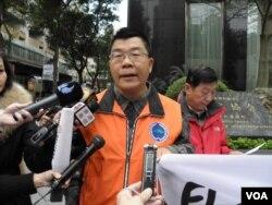 中華保釣協會秘書長黃錫麟(美國之音申華拍攝)
