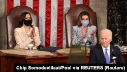 امریکہ کی تاریخ میں یہ پہلا موقع تھا کہ جب صدارتی خطاب کے دوران دو خواتین ایک ساتھ کانگریس کے مشترکہ اجلاس کی صدارت کر رہی تھیں۔