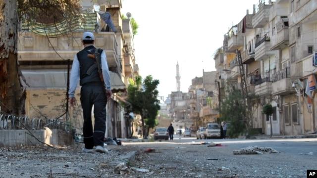 Yon rebèl siryen, nan vil Homs - madi 15 me 2012