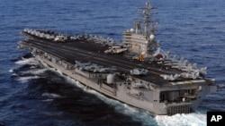 미국의 핵 추진 항공모함 로널드레이건 호. (자료사진)