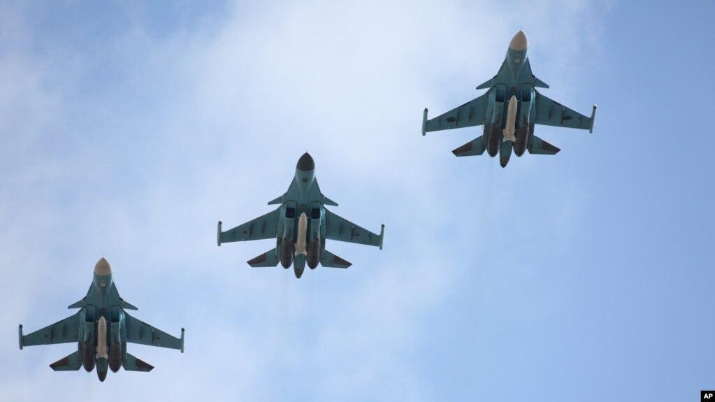 Máy bay ném bom Su-34 của Nga.