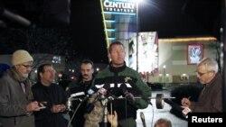 俄勒岡州波特蘭市克拉克馬斯縣警長菲利普斯星期二向媒體通報克拉克馬斯鎮中心購物商場槍擊案