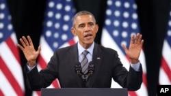 11月21日,美國總統奧巴馬在拉斯維加斯的一個行政人員會議上,為他的移民政策辯護。