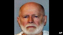 "FILE - June 23, 2011 booking file photo provided by the U.S. Marshal's Service shows James ""Whitey"" Bulger, who fled Boston in 1994 and was captured in 2011 in Santa Monica, California."