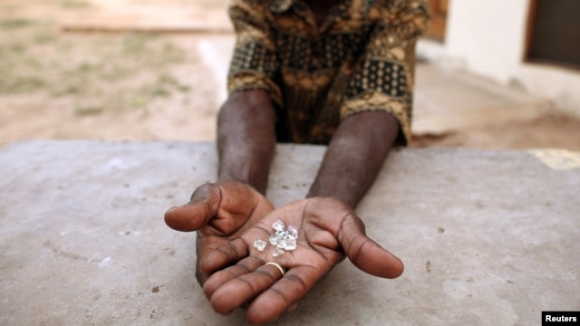Rights group says nearly $2 billion worth of stolen diamonds has been going to cronies of President Robert Mugabe