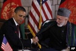 Prezidentlar Barak Obama va Hamid Karzay Kobulda strategik hamkorlik shartnomasiga imzo chekdi, 1-may 2012