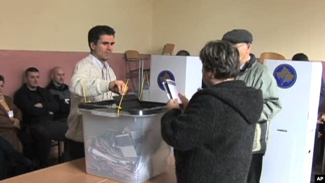 Polling station in Kosovo