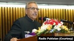 صدرِ پاکستان ڈاکٹر عارف علوی پارلیمنٹ کے مشترکہ اجلاس سے خطاب کر رہے ہیں۔