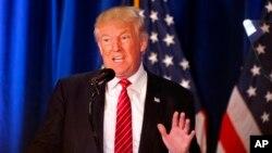 15일 오하이오 주 영스타운에서 외교분야 공약을 밝히고 있는 도널드 트럼프 공화당 대통령 후보.