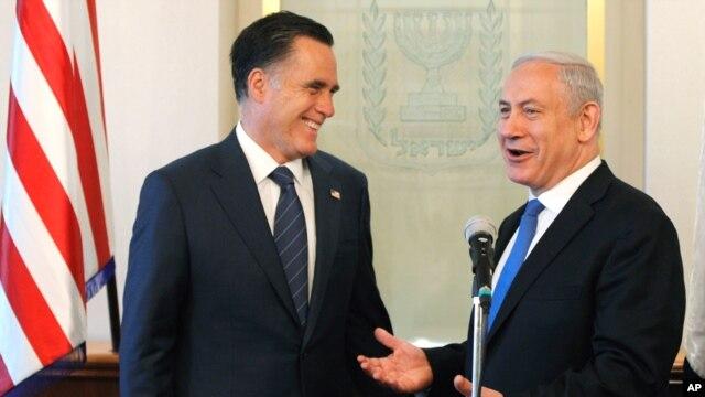 Ông Netanyahu tin rằng một chính phủ Mỹ dưới quyền ông Romney sẽ tăng cường sự hỗ trợ của dành cho Israel.