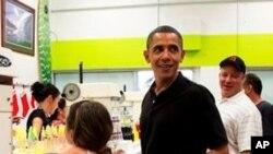 سهرۆک ئۆباما له میانهی پـشووکهیدا
