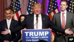 美國共和黨總統參選人唐納德•川普(Donald Trump)。