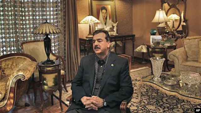 Pakistani Prime Minister Yousuf Raza Gilani during an interview with The Associated Press at his residence in Lahore,  December 5, 2011.