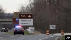 L'entrée de la NSA à Fort Meade dans le Maryland (AP Photo/Patrick Semansky)