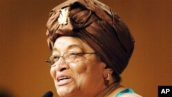 La présidente Sirleaf