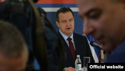 Arhiva - Ivica Dačić, ministar spoljnih poslova Srbije, govori tokom novogodišnjeg prijema u Ministarstvu spoljnih poslova. (Foto: Ministarstvo spoljnih poslova Srbije)